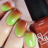 Daily Charme Indie Nail Polish Starrily / Zombie Blood™ color changing nail polish.