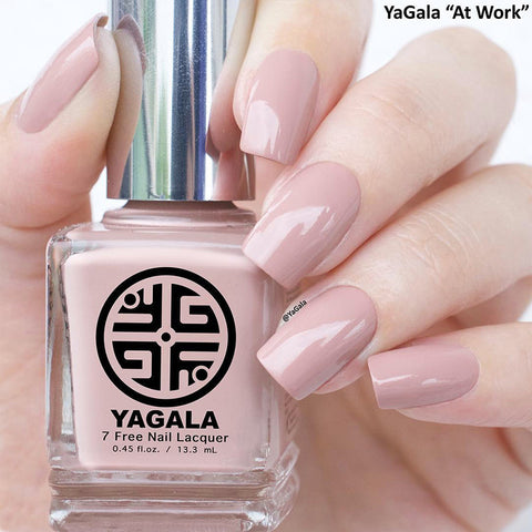 YaGala Nail Polish Lacquer #008 At Work 7-Free Swatch Nude Color