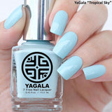 YaGala Nail Polish Lacquer #013 Tropical Sky 7-Free Swatch