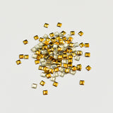 Nail Art Decoration - Square 3mm Stud / Gold