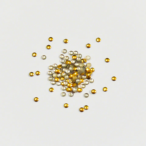 Nail Art Decoration - Round 2mm Stud / Gold