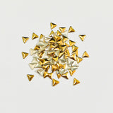 Nail Art Decoration - Triangle 4mm Stud / Gold