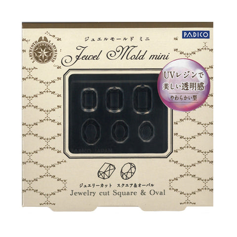 Padico Jewel Mold Mini / Jewelry Cut Square & Oval Nail Charm Japanese 3D Nails