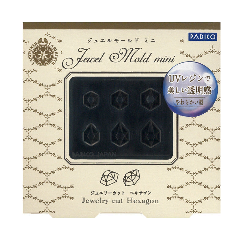 Padico Jewel Mold Mini / Jewelry Cut Hexagon Nail Charms Japanese 3D Nails