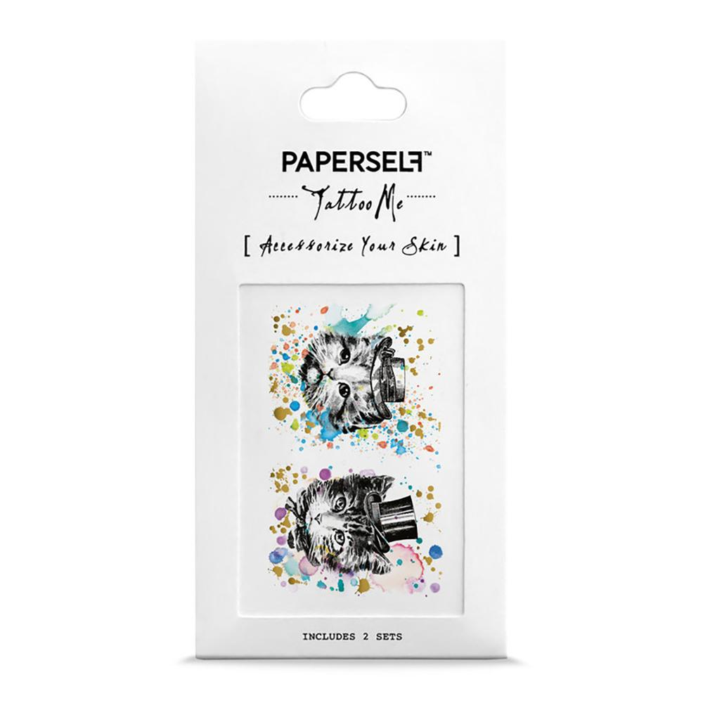 Kitten Brothers Fashion Makeup by PAPERSELF Temporary Tattoo