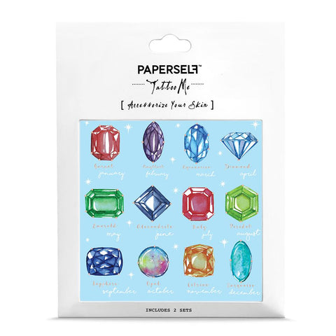 Birthstone Fashion Makeup by PAPERSELF Temporary Tattoo