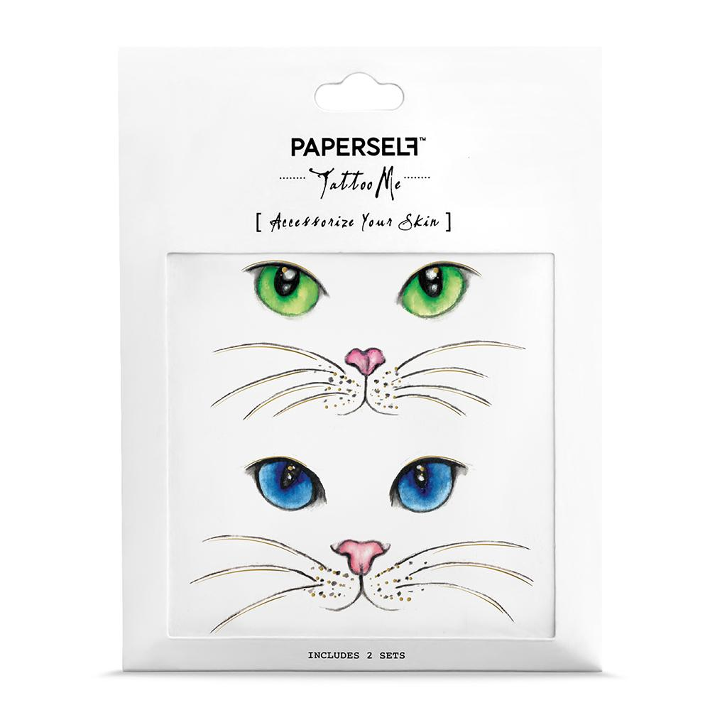 8eadeb2e7 Quality Temporary Body Tattoo Cat Eyes Body Art Makeup by PAPERSELF ...