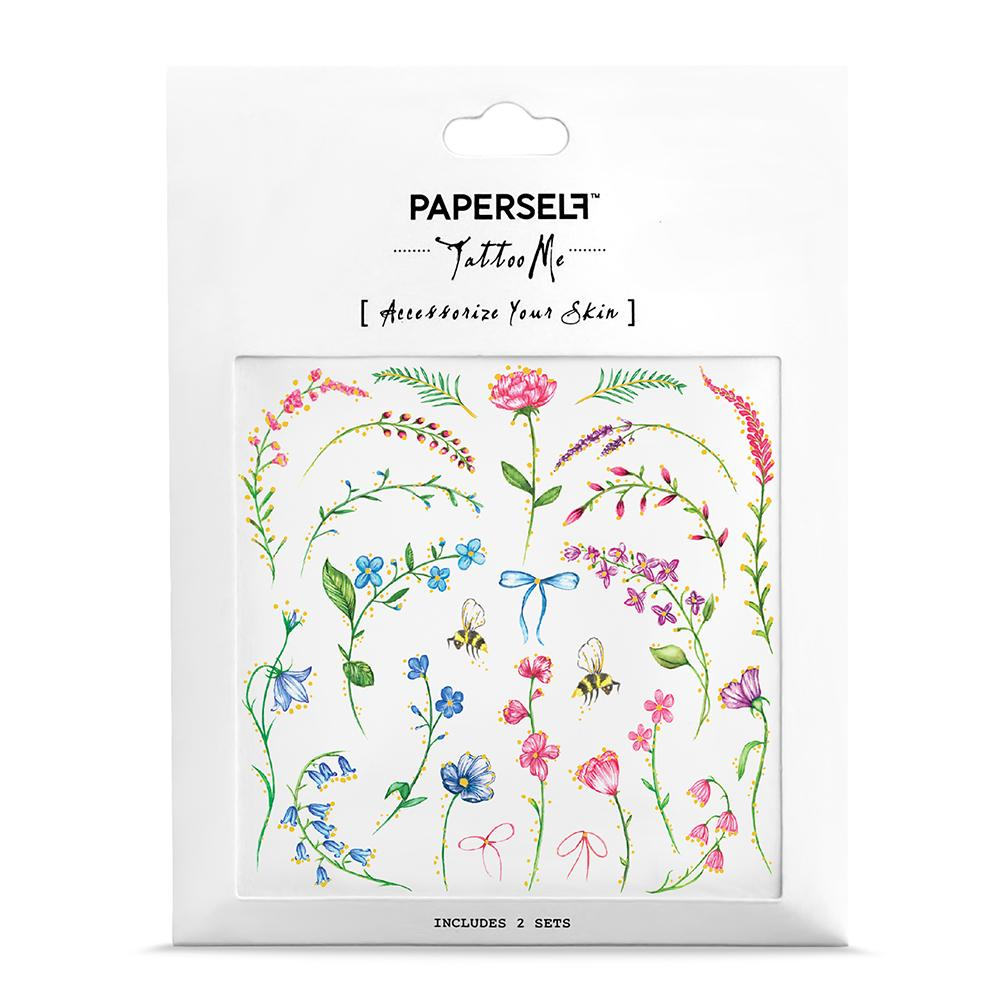 Mini Bouquet Body Art Makeup by PAPERSELF Temporary Tattoo