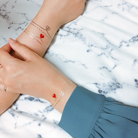 All You Need Is Love Fashion Makeup by PAPERSELF Temporary Tattoo