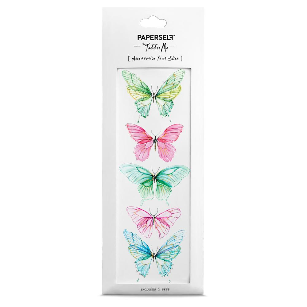 Butterfly W Fashion Makeup by PAPERSELF Temporary Tattoo