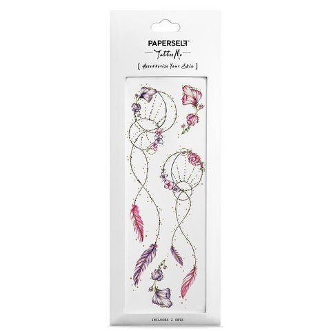 Dreamcatcher Fashion Makeup by PAPERSELF Temporary Tattoo
