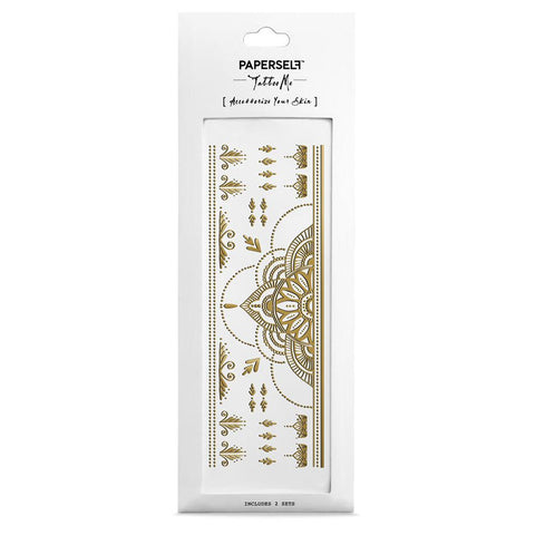 ab6fdcc916d24 PAPERSELF Temporary Tattoo / Henna Gold
