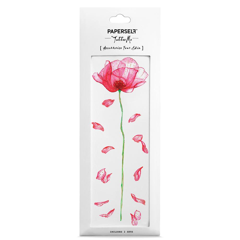 Poppy Fashion Instagram Style by PAPERSELF Temporary Tattoo