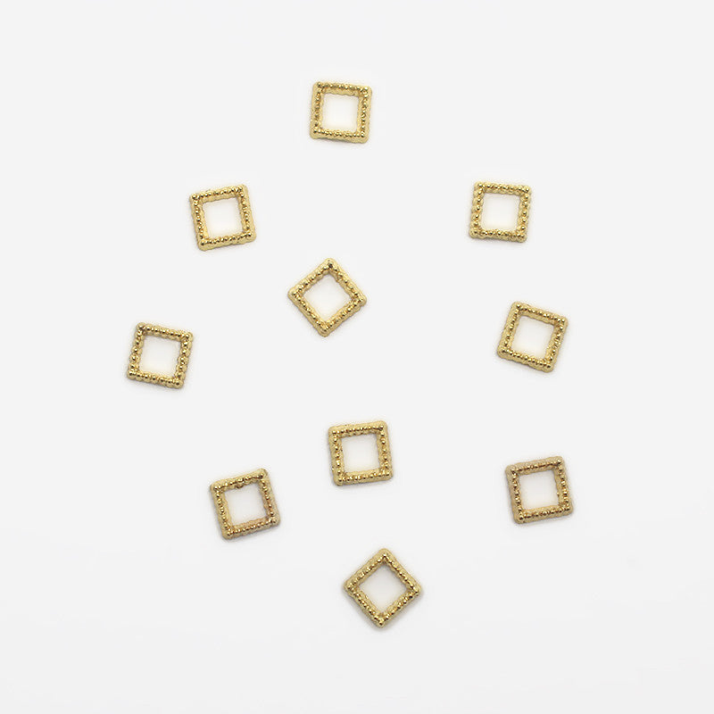 Beaded 5mm Square Frame / Gold