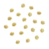 Scallop Seashell Studs / Gold Nail Art Decorations 3D