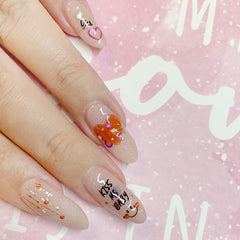 Sparkly Jewel Nail Art Sticker / Lovely Words Valentine's Day Design