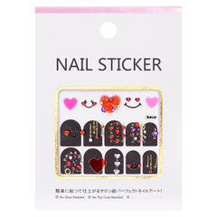 Sparkly Jewel Nail Art Sticker / Cute Hearts Valentine's Day Design