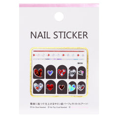 Sparkly Jewel Nail Art Sticker / Lovely Hearts
