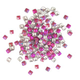 Square 3mm Stud / Pink Duo Chrome