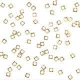 Nail Art Studs - Mini Square Open Frame / Gold