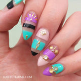 Nail Art Metallic Studs Gold Mini Skinny Triangle Geometric Tribal