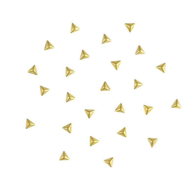 Mini Triangle Pyramid Stud / Gold Nail Art Studs