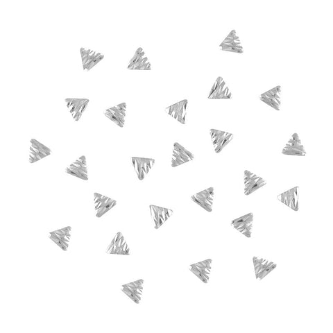 Nail art decoration Carved Triangle Studs / Silver