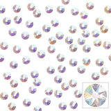 Swarovski Round Unfoiled Flatback Rhinestone / Crystal AB Nail Art Supplies