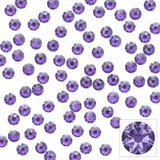 Swarovski Round Flatback Rhinestone / Tanzanite Lavender Purple Crystals for Nail Art