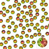 Swarovski Round Flatback Rhinestone / Vitrail Medium Chameleon Color Shifting Gold Green Pink Crystals for Nail Art