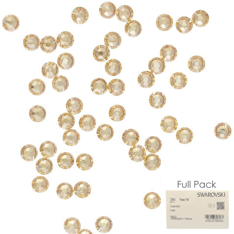 Swarovski Round Flatback Rhinestone Factory Pack / Golden Shadow