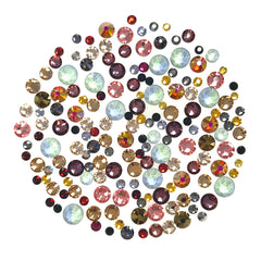 Nail Art Swarovski Round Flatback Rhinestone Value Mix / Colored