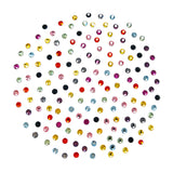 Swarovski SS 5 Round Flatback Rhinestone Value Mix Rainbow Colored Nail Art