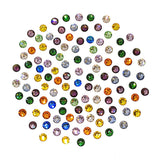 Swarovski SS 12 Round Flatback Rhinestone Value Mix / Colored