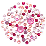 Swarovski Valentine's Day Flatback Crystal Value Mix Pink Red AB Peach