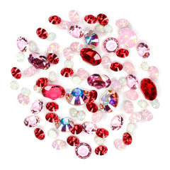 Swarovski Valentine's Day Pointed Back Crystal Value Mix Pink Red Nail Art