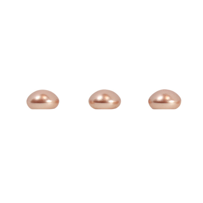 Swarovski 1/2 Drilled Crystal Flatback Pearl / Rose Gold