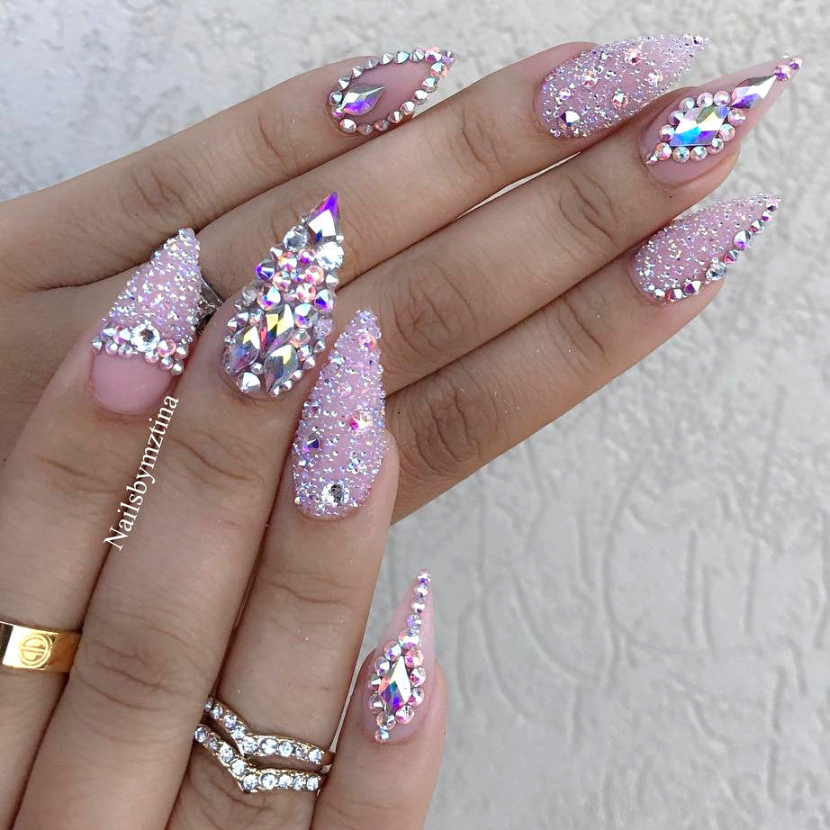 Swarovski Crystal Pixie Nail Box / Cute Mood Nail Art Daily Charme