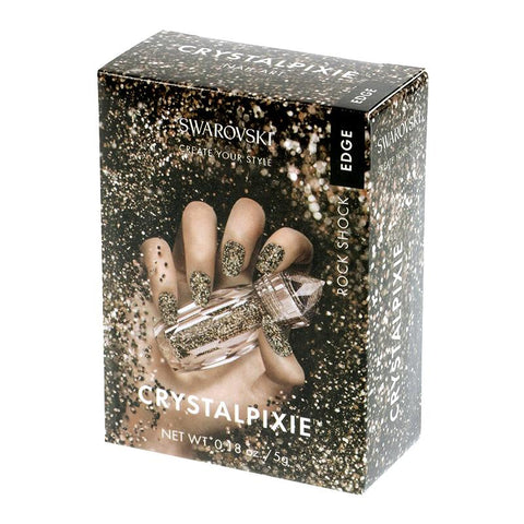 Swarovski Crystalpixie Edge / Rock Shock Metallic Crystals 2017 New Fall Winter Nail Trend