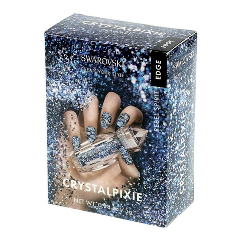 Swarovski Crystalpixie Edge / Rebel Spirit Blue Crystals 2017 New Fall Winter Nail Trends