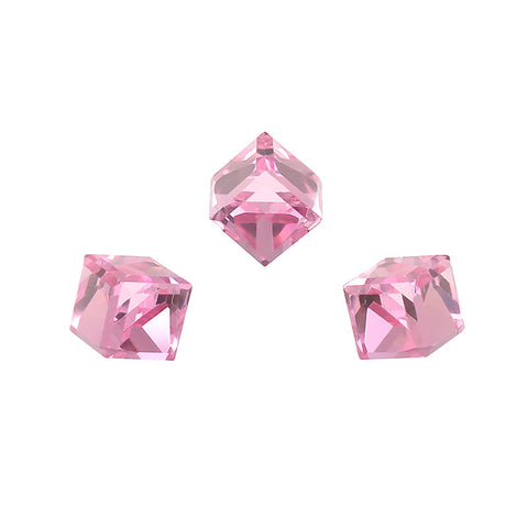Daily Charme Swarovski Cube Rhinestone in Light Rose