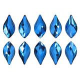 Swarovski Flame Flatback Rhinestone / Bermuda Blue Special Production Crystal for Nail Art