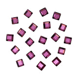 Swarovski Foiled Square Flatback Rhinestone in AMETHYST Purple Crystal for Nail Art