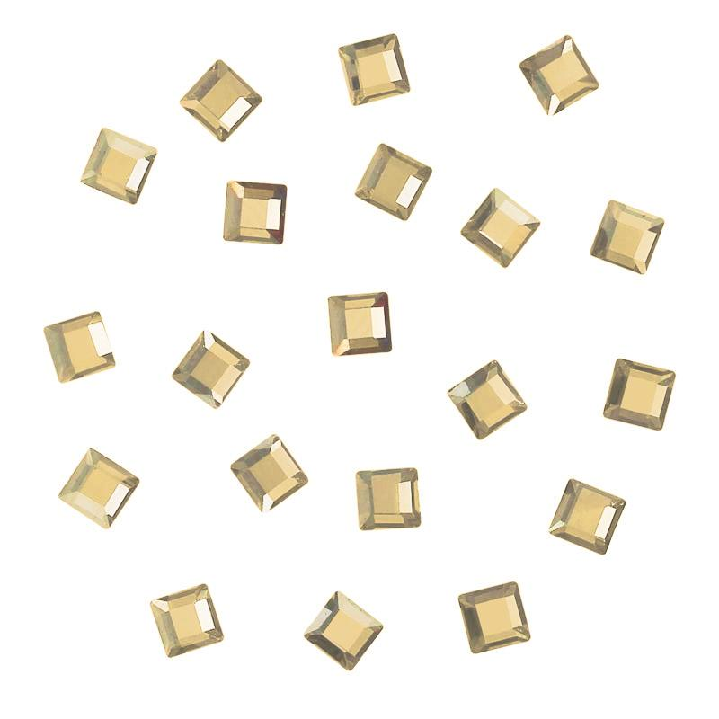 Nail Art Supplies Swarovski Foiled Square Flatback Rhinestone / Golden Shadow