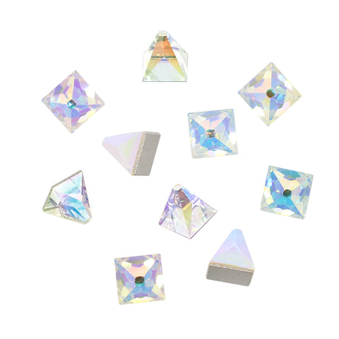 Swarovski Square Spike Flatback Rhinestone / Crystal AB 4MM 2419 for Nail Art