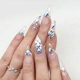 Swarovski Kite Flatback Rhinestone / Crystal AB Nail Art Supplies