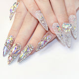 Swarovski Diamond Flatback Rhinestone / CRYSTAL AB Nail Art Supplies