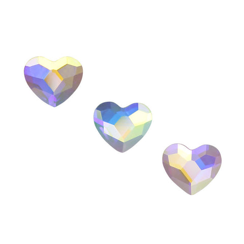 Swarovski Heart Flatback Rhinestone / Crystal AB Nail Art Decor Supply Design