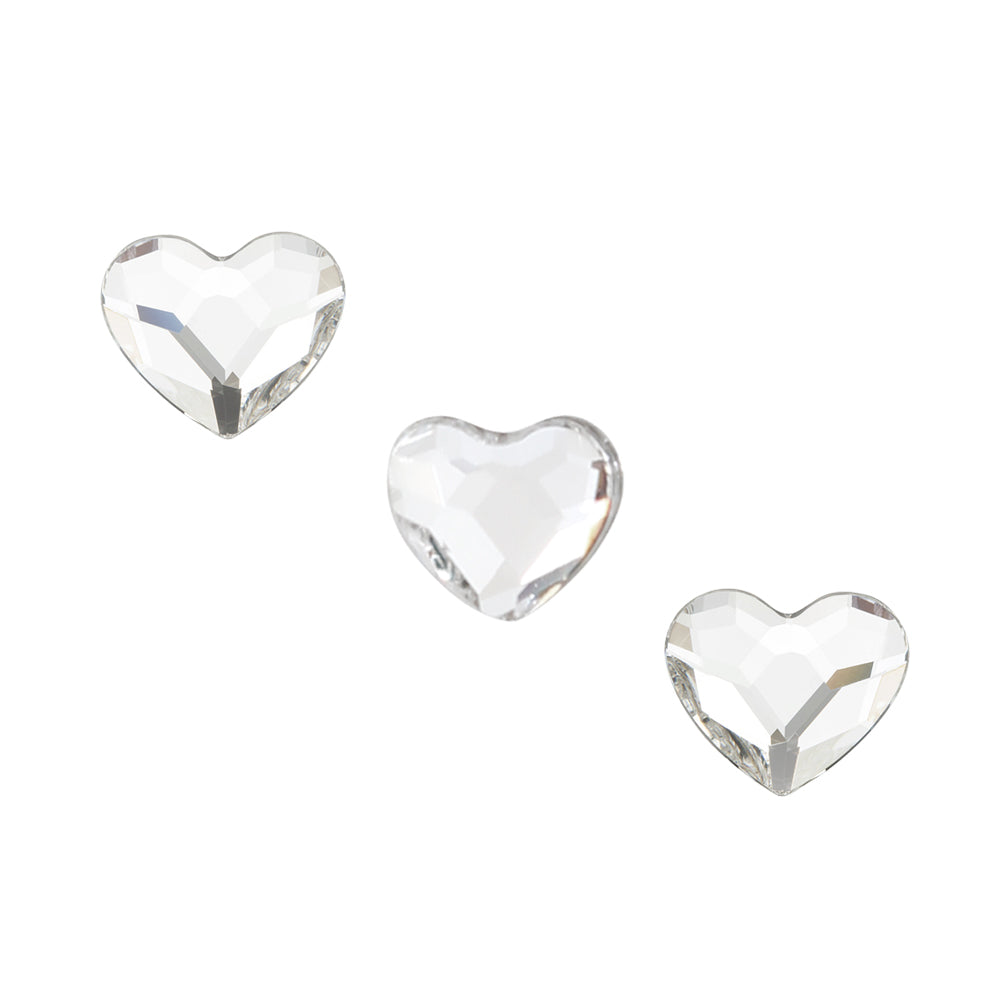 Swarovski Heart Flatback Rhinestone / Crystal Clear for Nail Art 3.6MM 2808