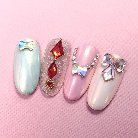 Swarovski Heart Flatback Rhinestone / Rosaline Pink Nail Art Decor Supply Design